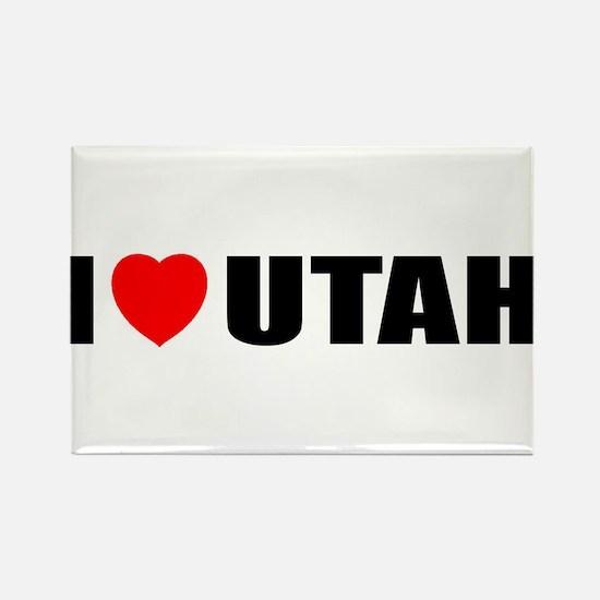 I Love Utah Rectangle Magnet