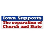 Iowa Church and State Bumper Sticker