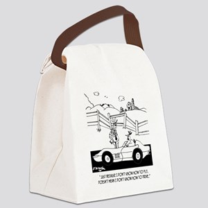 Chicken Cartoon 6482 Canvas Lunch Bag