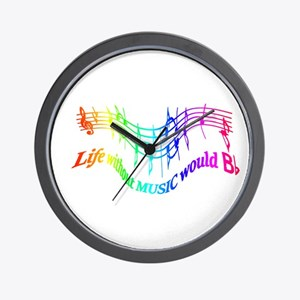 Without Music Life would be flat Humor Quote Wall