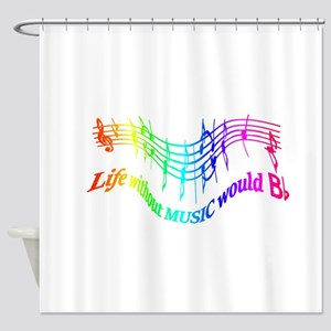 Without Music Life would be flat Humor Quote Showe