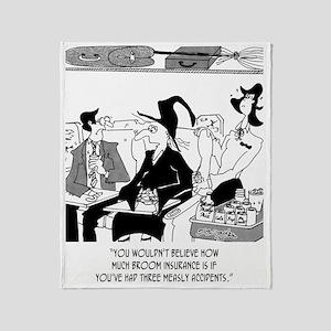 Insurance Cartoon 5221 Throw Blanket