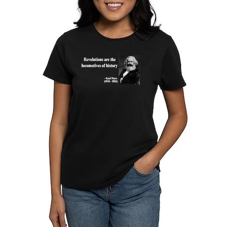 Karl Marx Quote 7 Women's Dark T-Shirt