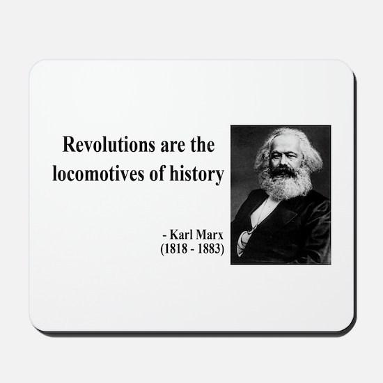 Karl Marx Quote 7 Mousepad