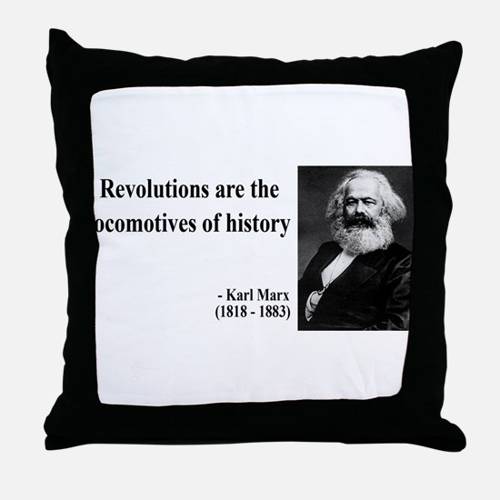Karl Marx Quote 7 Throw Pillow
