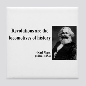 Karl Marx Quote 7 Tile Coaster