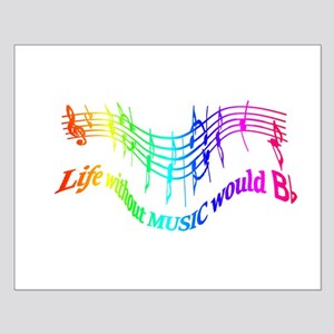 Without Music Life would be flat Humor Quote Small