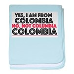 Yes, I am from Colombia baby blanket