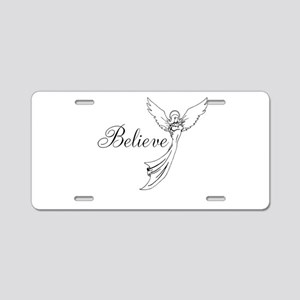 I believe in angels Aluminum License Plate
