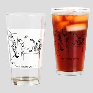 Flying Cartoon 4304 Drinking Glass