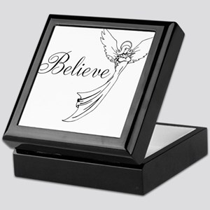 I believe in angels Keepsake Box