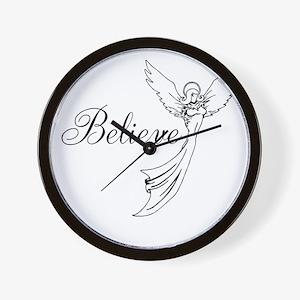 I believe in angels Wall Clock