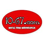 10-67.com Sticker (Oval)