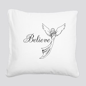 I believe in angels Square Canvas Pillow