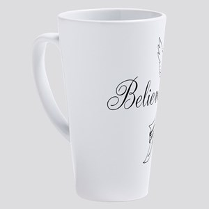 I believe in angels 17 oz Latte Mug