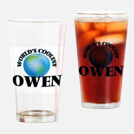 World's Coolest Owen Drinking Glass