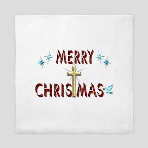 Merry Christmas with Cross Queen Duvet