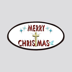 Merry Christmas with Cross Patches