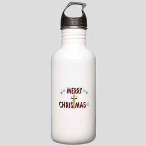 Merry Christmas with C Stainless Water Bottle 1.0L