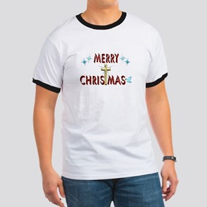Merry Christmas with Cross Ringer T
