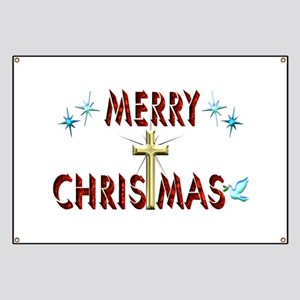Merry Christmas with Cross Banner