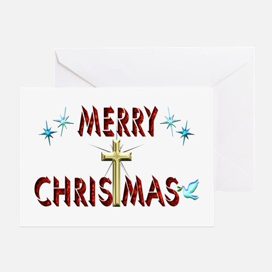 Merry Christmas with Cross Greeting Card
