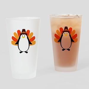 Penguin Pilgrim Turkey Mash-up Drinking Glass