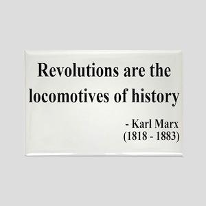 Karl Marx Text 7 Rectangle Magnet