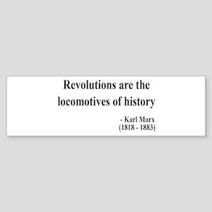 Karl Marx Text 7 Bumper Sticker