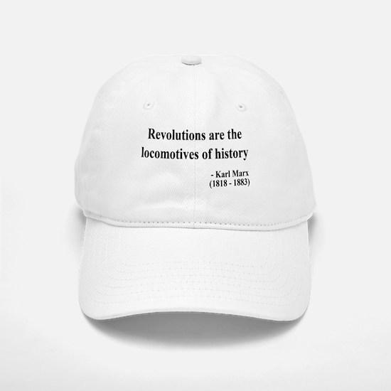 Karl Marx Text 7 Baseball Baseball Cap