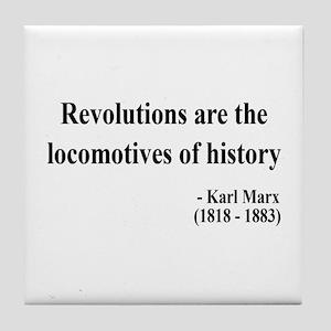 Karl Marx Text 7 Tile Coaster