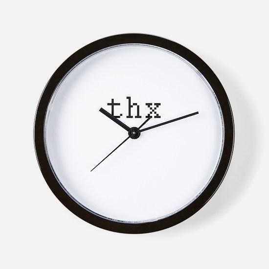 thx - Thanks Wall Clock