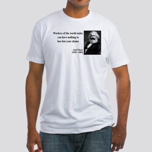 Karl Marx Quote 8 Fitted T-Shirt