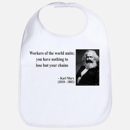 Karl Marx Quote 8 Bib