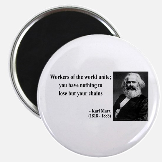 """Karl Marx Quote 8 2.25"""" Magnet (10 pack)"""