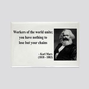 Karl Marx Quote 8 Rectangle Magnet