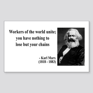 Karl Marx Quote 8 Rectangle Sticker