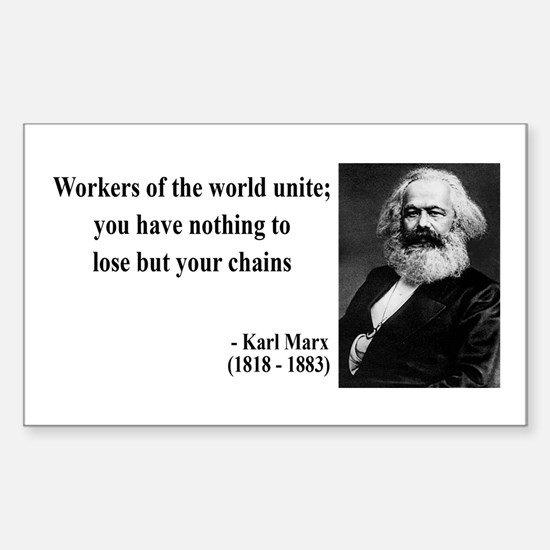 Karl Marx Quote 8 Rectangle Decal