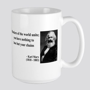Karl Marx Quote 8 Large Mug