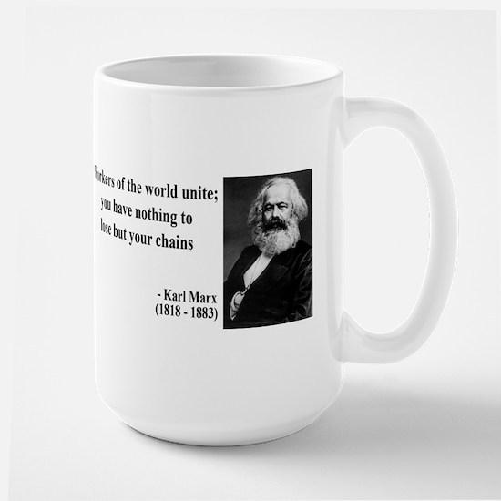 Karl Marx Quote 8 Large Mug
