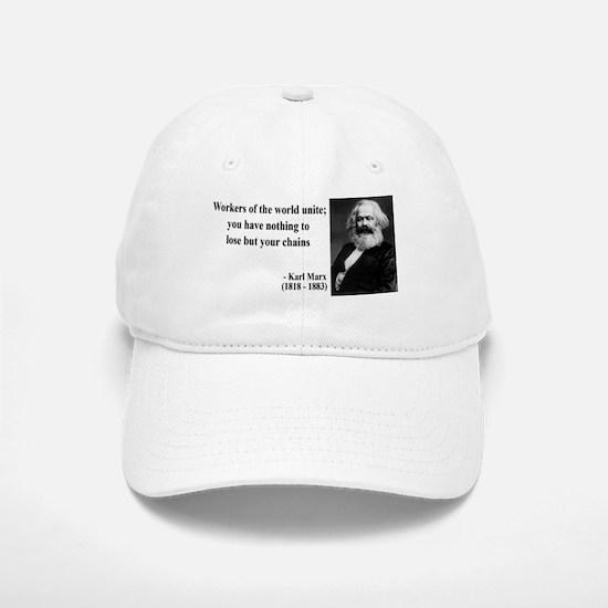 Karl Marx Quote 8 Baseball Baseball Cap