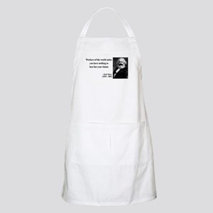 Karl Marx Quote 8 BBQ Apron
