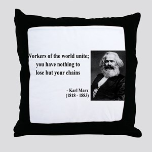 Karl Marx Quote 8 Throw Pillow