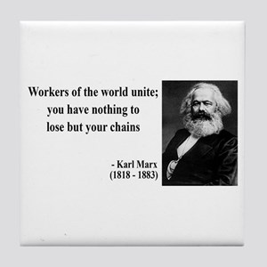 Karl Marx Quote 8 Tile Coaster