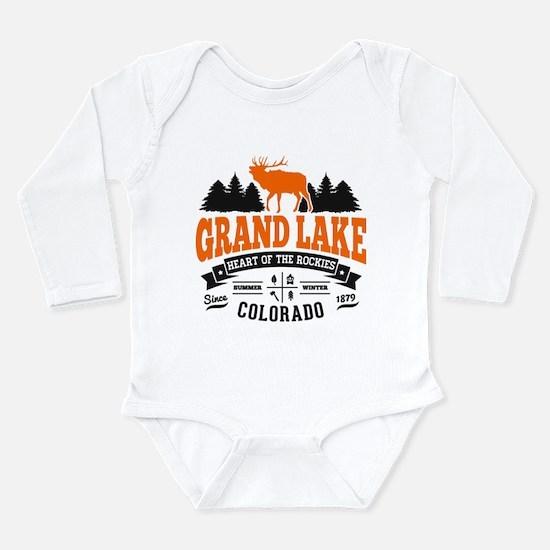 Grand Lake Vintage Long Sleeve Infant Bodysuit