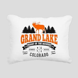 Grand Lake Vintage Rectangular Canvas Pillow