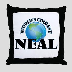 World's Coolest Neal Throw Pillow