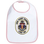USS FORT FISHER Cotton Baby Bib