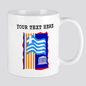 Custom Greece Flag Mugs