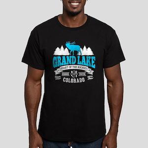 Grand Lake Vintage Men's Fitted T-Shirt (dark)